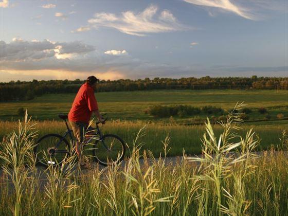 Cycling in Calgary's Fish Creek Park