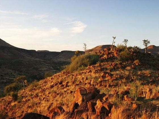 Damaraland landscape at Etendeka Mountain Lodge