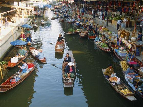 Damnoen Saduak floating market, Bangkok