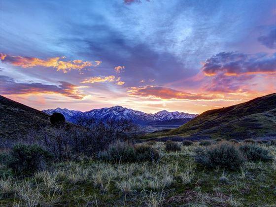 Desert sunrise outside of Salt Lake City