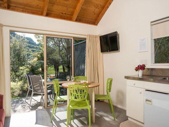 Dining area at Abel Tasman Marahau Lodge
