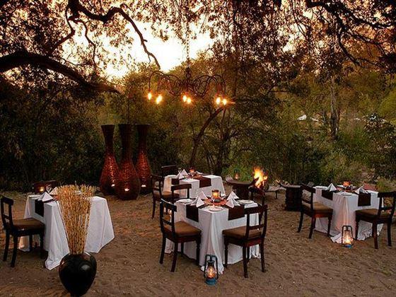 Dining at Little Bush Camp at Sabi Sabi Private Game Reserve