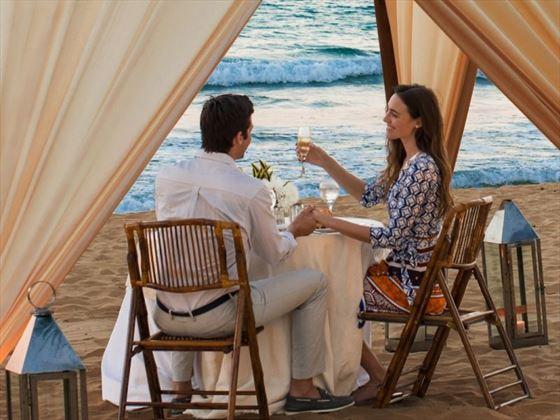 Dinner on the beach at Excellence El Carmen