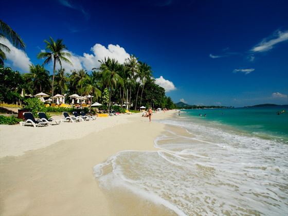 Direct beach access from Centara Grand Beach Resort Samui