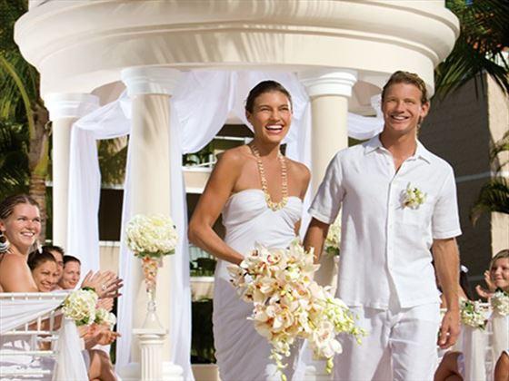 The beautiful wedding gazebo at Dreams Palm Beach