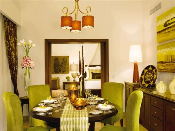 Dreams Palm Beach in-room dining area