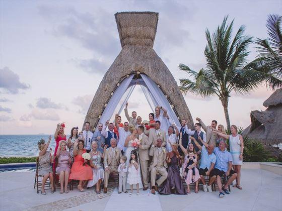 Dreams Riviera Cancun Resort & Spa wedding party
