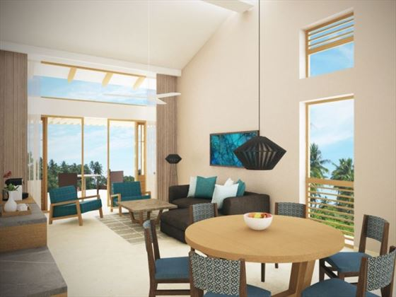 Preferred Club Two Bedroom Villa living room