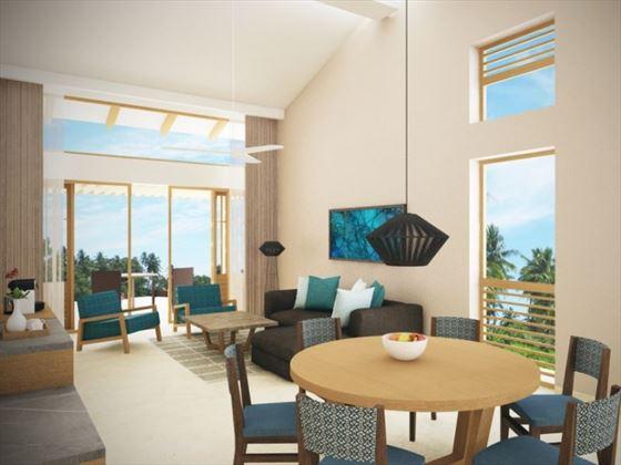 Preferred Club Two Bedroom Villa living room