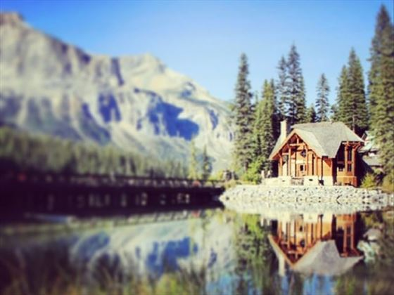 Emerald Lake Lodge in the wintertime