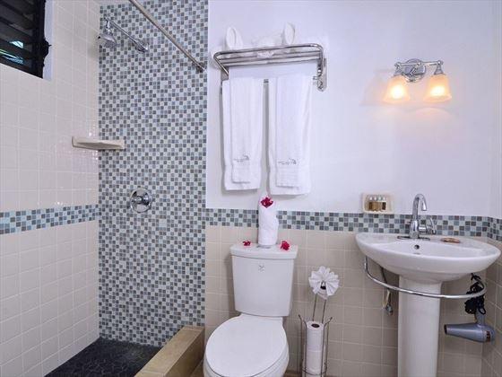 King or Twin Room En-suite Bathroom, Anegada Beach Club