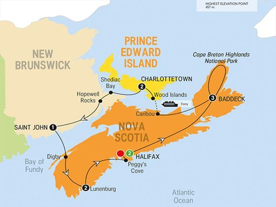 Enchanting Canadian Maritimes Route