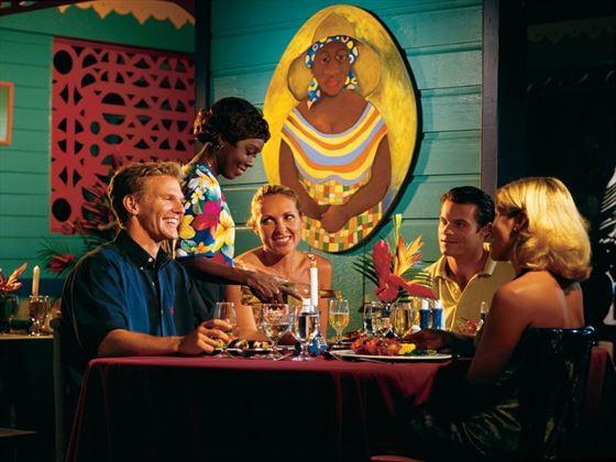 Enid's restaurant at Almond Beach Resort