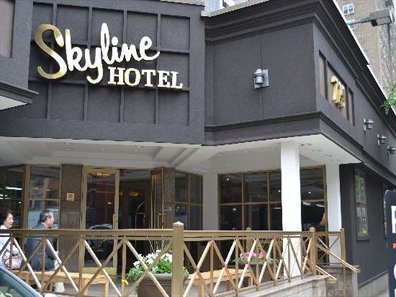 Skyline Hotel Entrance