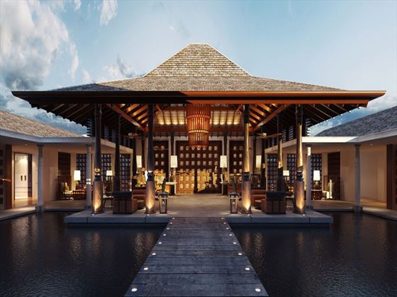 Entrance to the Anantara Tangalle Peace Haven