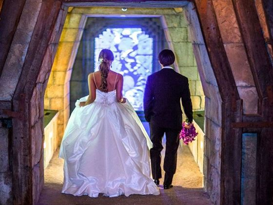Entrance to The Dig, another wonderful wedding photo opportunity