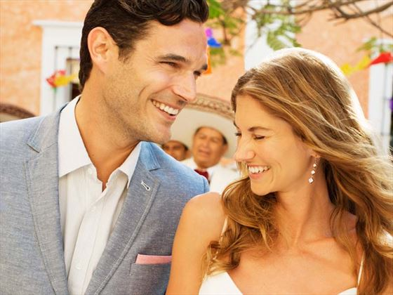 Wedding romance at Excellence Riviera Cancun