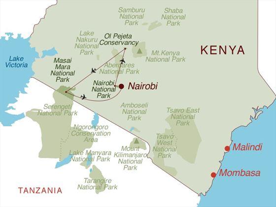 Exclusive Eco Tented Safari Map