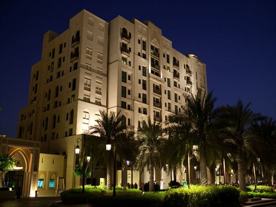 Exterior view of Al Manzil at night