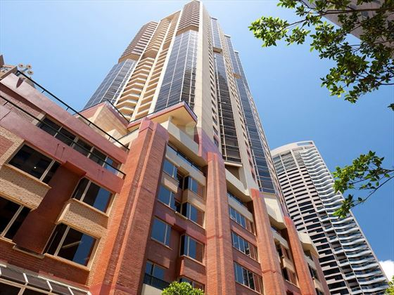 Exterior view of Quay West Suites Sydney