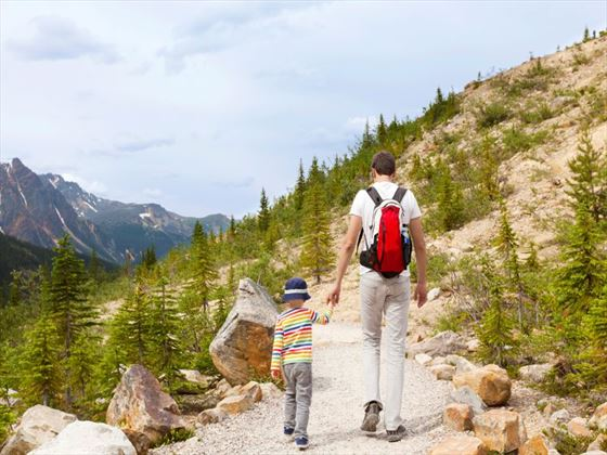 Hiking through the Canadian landscape