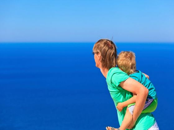 Spend time with the kids overlooking fantastic views on your family holiday