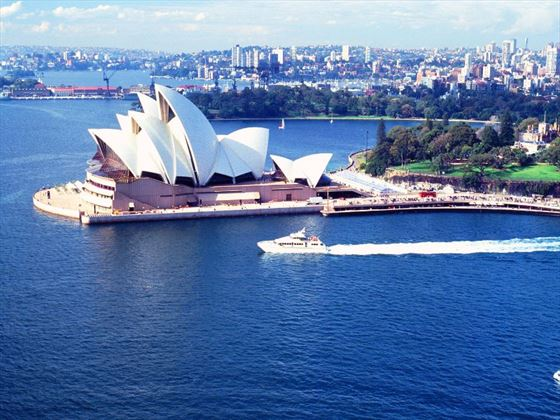 Ferry passing the Sydney Opera House