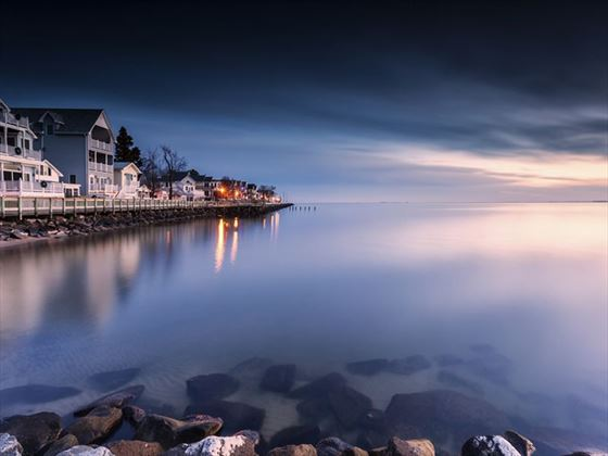 First light over Chesapeake Bay, Maryland