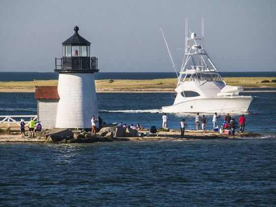 Fishing off Brant Point in Nantucket