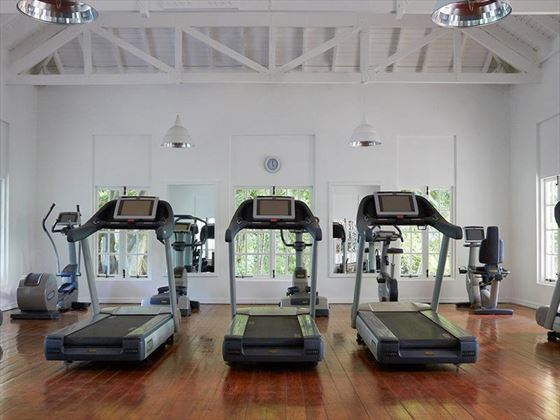 Fitness room at Sugar Beach