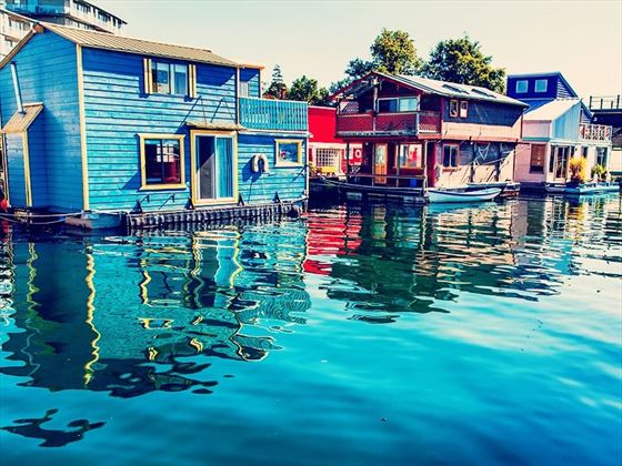 Floating homes in Victoria, British Columbia