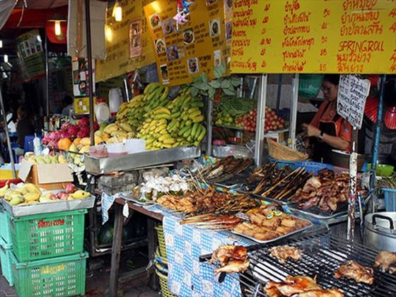 Food market on Khao San Road