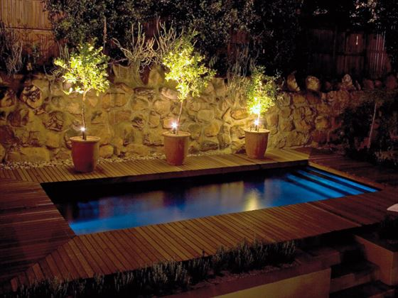 Four Rosmead private plunge pool at night
