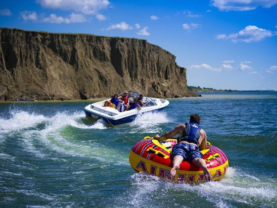 Fun on Lake Diefenbaker, Saskatchewan