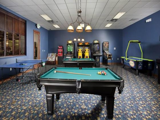 Games room at Paradise Palms Resort