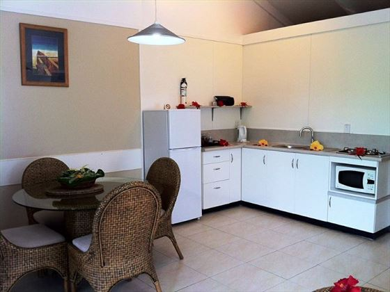 Garden Unit kitchen at Muri Beachcomber