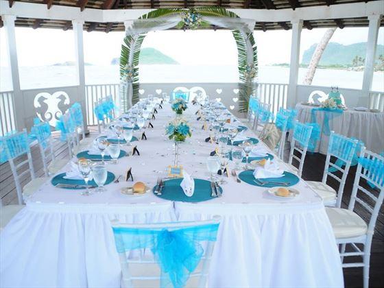 Wedding reception in the gazebo