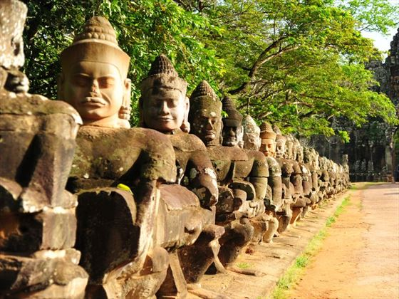 Giant statues in Angkor Thom