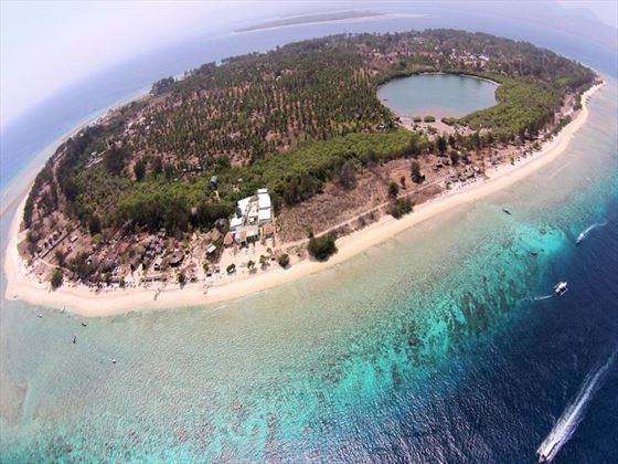 Aerial View of Gili Meno