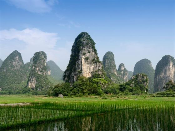 Guilin scenery from the Li River