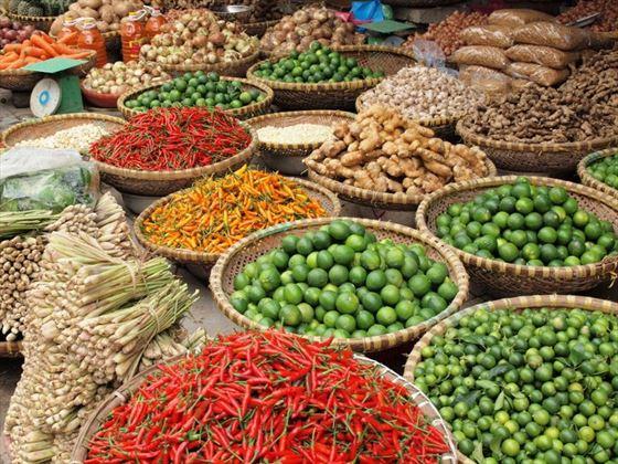 Street market produce
