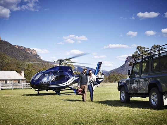 Emirates One and Only Wolgan Valley helicopter ride