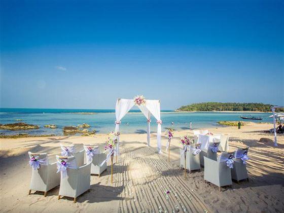 Ceremony venue at the Anantara Lawana Koh Samui Resort