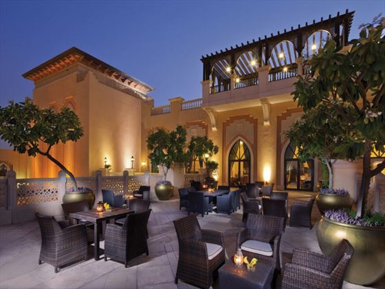 Horizon lounge terrace at Shangri-La Qaryat al Beri
