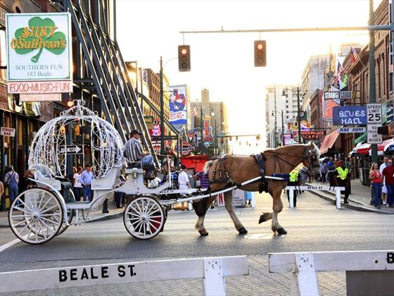 Horse and carriage on Beale Street