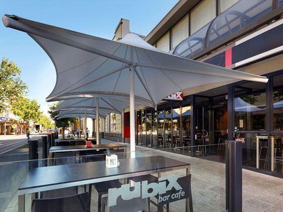 Outdoors at Rubix bar