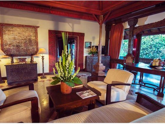 Living Room, Puri Le Mayeur Suite, Hotel Tugu Bali
