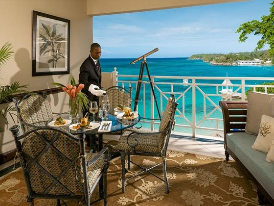 In room butler service at Sandals Royal Plantation