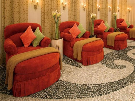 In-spa luxury loungers at Secrets Maroma Beach Riviera Cancun