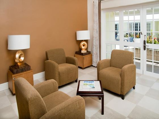 In-Suite living area at Island Inn Boutique Hotel